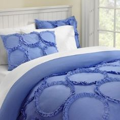 Looking for a comforter/duvet cover for myself, and my daughter w/ruffles