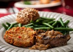 Surf and Turf (Beef Medallions and Baked Crab Cakes) – This entrée is sure to impress your valentine!