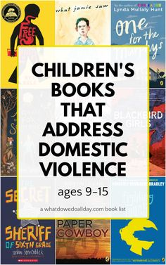 List of middle grade novels that address domestic violence and abuse. Books for 8-15 year olds that build compassion and understanding. Get Reading, Kids Reading, Read Aloud Books, Good Books, Best Children Books, Childrens Books, Children Projects, Reading Fluency, Reading Resources