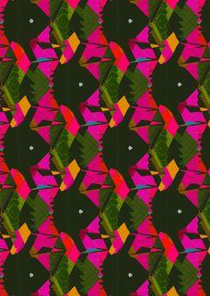 Fuchsia & Green Art Print by Georgiana Paraschiv