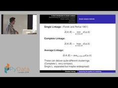 Christian Hennig - Assessing the quality of a clustering - YouTube