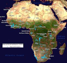 Diamond Occurrence Map of Africa Africa Map, Out Of Africa, North America Map, Western Sahara, Mediterranean Sea, African American History, World History, Uganda, Egypt