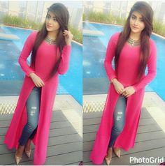Dpz for girl Stylish Dress Designs, Stylish Dresses, Casual Dresses, Pakistani Dresses, Indian Dresses, Indian Outfits, Churidar, Anarkali, Lehenga