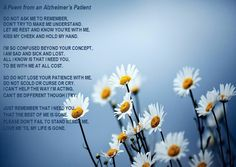 Poem From A Person With Alzheimer's