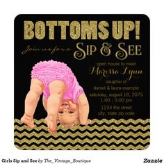 Girls Sip and See Invitation
