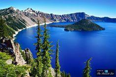 Lago Crater azul de Oregon