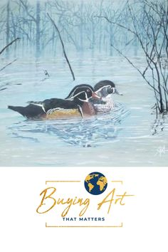 16x20 acrylic on canvas wrap. Buying Art That Matters has the privilege  of selling this realistic painting of a duck duo from Shirley Rush's -Visions by  Shirl- body of work that she left behind. Become part of her legacy by  supporting our mission to fund inspiring Christian Mission organizations  that are helping to create a more faith-filled and stronger world.  #artforsale #realisticart #natureart #birdart #artwithmeaning Realistic Paintings, Acrylic Paintings, Art With Meaning, Modern Portraits, Realism Art, Christian Art, Bird Art, Organizations, Wrapped Canvas