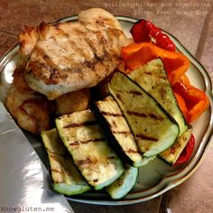 Grilled Chicken and Vegetables - Gluten Free, Grain Free