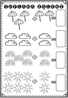 by stephanii - Kindergarten Math Activities, Math Literacy, Preschool Math, Addition Worksheets, Math Addition, Worksheets For Kids, Numbers Preschool, Preschool Printables, Kindergarten Worksheets