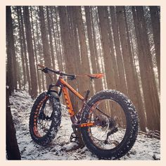 雪のトレイル楽しいな #scott #fatbike