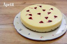 Valentýnský cheesecake s malinovými srdíčky