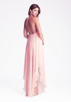O-neck halter-neck tube top back placketing elegant chiffon full dress