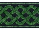 """2"""" Black Green Celtic knot - comes in a variety of other colors."""