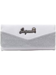"""Monroe"" Wallet by Sourpuss Clothing (Silver/White)"