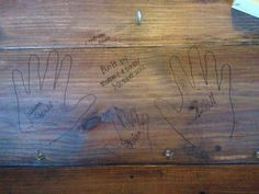 DIY Farm Table - Even if I dont make this one the idea to sign and date is awesome!!