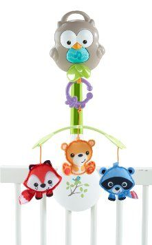 Your baby will enjoy the company of lovable forest friends with the Fisher-Price Woodland Friends Musical Mobile. This versatile mobile plays soothing music and grows with your baby by converting to a stroller mobile and a take-along owl toy.