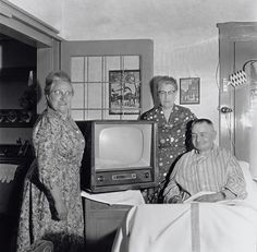 Having a TV in 1950 was very special and rare.