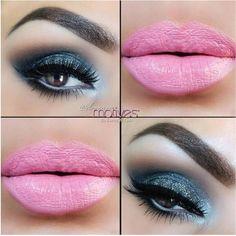 Slate Blue Eyes and Baby Pink Lips! So hot! #makeup #makeuptips #beauty #beautytips #lipgloss #lips #stylishfashion #eyeshadow #eyemakeup #eyemakeuplook #eyemakeupeveryday