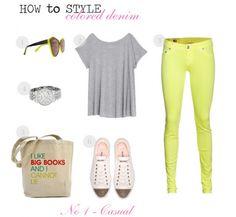 Colored Denim - outfit idea to go with Emerson Edward - songbird  http://leizelnetral.vaultdenim.me/