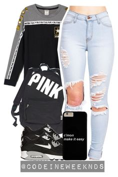 """""""12/19/15"""" by codeineweeknds ❤ liked on Polyvore featuring moda, Victoria's Secret, NIKE, women's clothing, women's fashion, women, female, woman, misses y juniors"""
