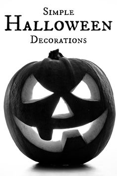Simple DIY Halloween Decorations  #halloween