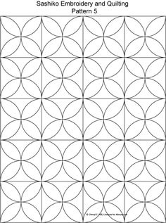 sashiko pattern that works as kawung motif
