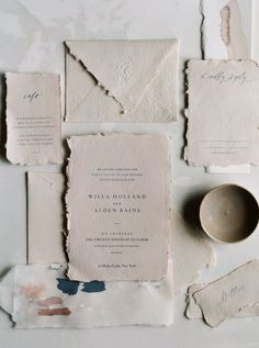 PAPER • neutral wedding paper with script • instagram @oui_events