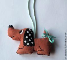 Купить игрушка Такса - украшение на елку, елочное украшение, игрушка на елку, елочная игрушка, игрушка
