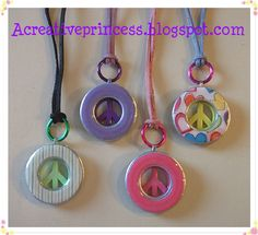 I am so finding some peace sign buttons so I can make some of these!