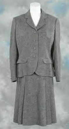 "From the classic Oscar winning Disney movie ""Bedknobs and Broomsticks"" Two-piece grey wool suit jacket and skirt worn by ""Eglantine Price"" (played by Angela Lansbury) Bedknobs And Broomsticks, Grey Wool Suit, Oscar Wins, Angela Lansbury, Movie Costumes, Disney Pictures, Disney Movies, The Twenties, Suit Jacket"