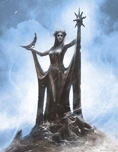Skyrim's Azura conceptual art
