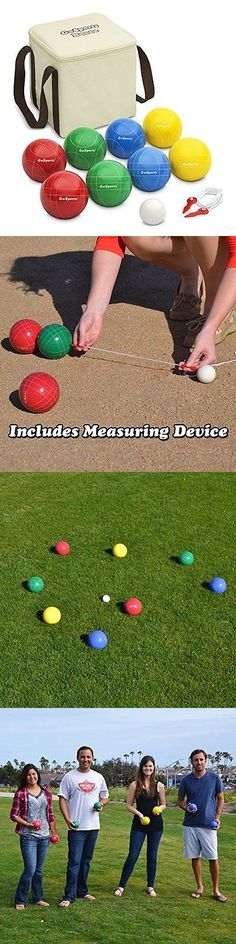 bocce ball gosports backyard bocce set with 8 balls pallino case and measuring rope - Bocce Set