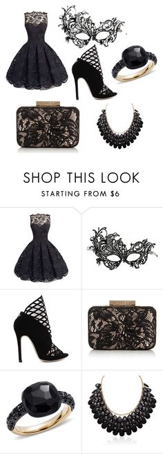 """""""Black Masquerade"""" by huntergurl68 ❤ liked on Polyvore featuring Lipsy and Pomellato"""