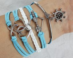 womens gifts bracelets- infinite heart bracelets blue bracelets,leather bracelets best gifts for lover,birthday gifts102'