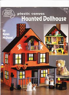 Plastic Canvas Haunted Dollhouse