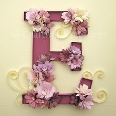 Project: Decorated Wood Letter Inspiration: Quilled Monogram with Fringe Flowers Source: This Pin from This Blog . Total ...