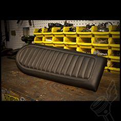 "Black DCC Originals Flat Leather Wrapped ""Brat"" Seat"