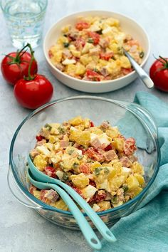 Salade piémontaise maison - Amandine Cooking Macaroni And Cheese, Ethnic Recipes, Diners, Brick, Food, Salads, Cold Lunches, Restaurants, Eten