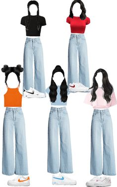 Discover outfit ideas for school made with the shoplook outfit maker. Kpop Fashion Outfits, Stage Outfits, Dance Outfits, Outfits For Teens, Korean Outfits, Korean Girl Fashion, Korean Fashion Trends, Cute Casual Outfits, Pretty Outfits