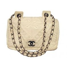 shoulder bags chanel shoulder bags chanel white crochet knit classic ...