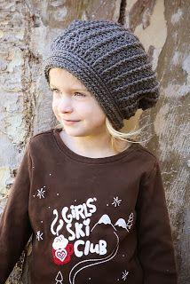 Kids Sloch Hat crochet pattern! http://riverweaving.blogspot.com/2013/12/grey-slouchy-hat.html