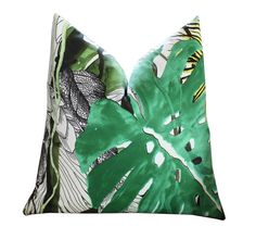 Jardin Exi Chic by Christian Lacroix DESCRIPTION Front - Christian Lacroix Jardin Exi Chic Backing - Plain Off White Linen This is for one pillow