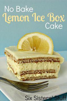 Oh wow, No Bake Lemon Ice Box Cake?! I need to try this!