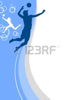 plaj voleybolu spor posteri Stok Fotoğraf