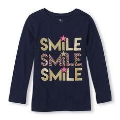Long Sleeve 'Smile' Graphic Tee