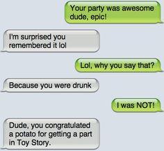 Ideas For Funny Texts Jokes Life Very Funny Texts, Funny Drunk Texts, Funny Texts Jokes, Drunk Memes, Text Jokes, Funny Text Fails, Epic Texts, Crazy Funny Memes, Really Funny Memes