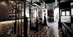 Dishoom - Covent Garden pays homage to the old Irani Cafes of Bombay.