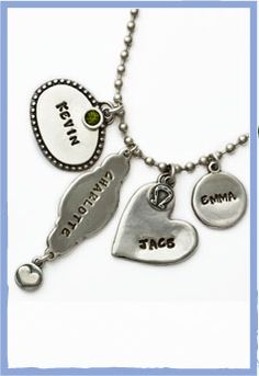 Get creative and design your own unique piece of jewelry. Mix and match all of our charms to create a necklace that is truly significant to you. www.nelleandlizzy.com $21.00