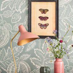 Outdoor Fabric, Wallpaper Calculator, Grey Damask Wallpaper, Scale Design, Grey Wallpaper, Wallpaper, Print Wallpaper, Damask Wallpaper, British Design