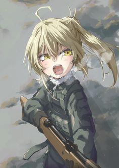doodle, pixivSketch, The Saga of Tanya the Evil / - pixiv Manga Girl, Manga Anime, Guerra Anime, Tanya Degurechaff, Character Art, Character Design, Yandere Girl, Tanya The Evil, Anime Military